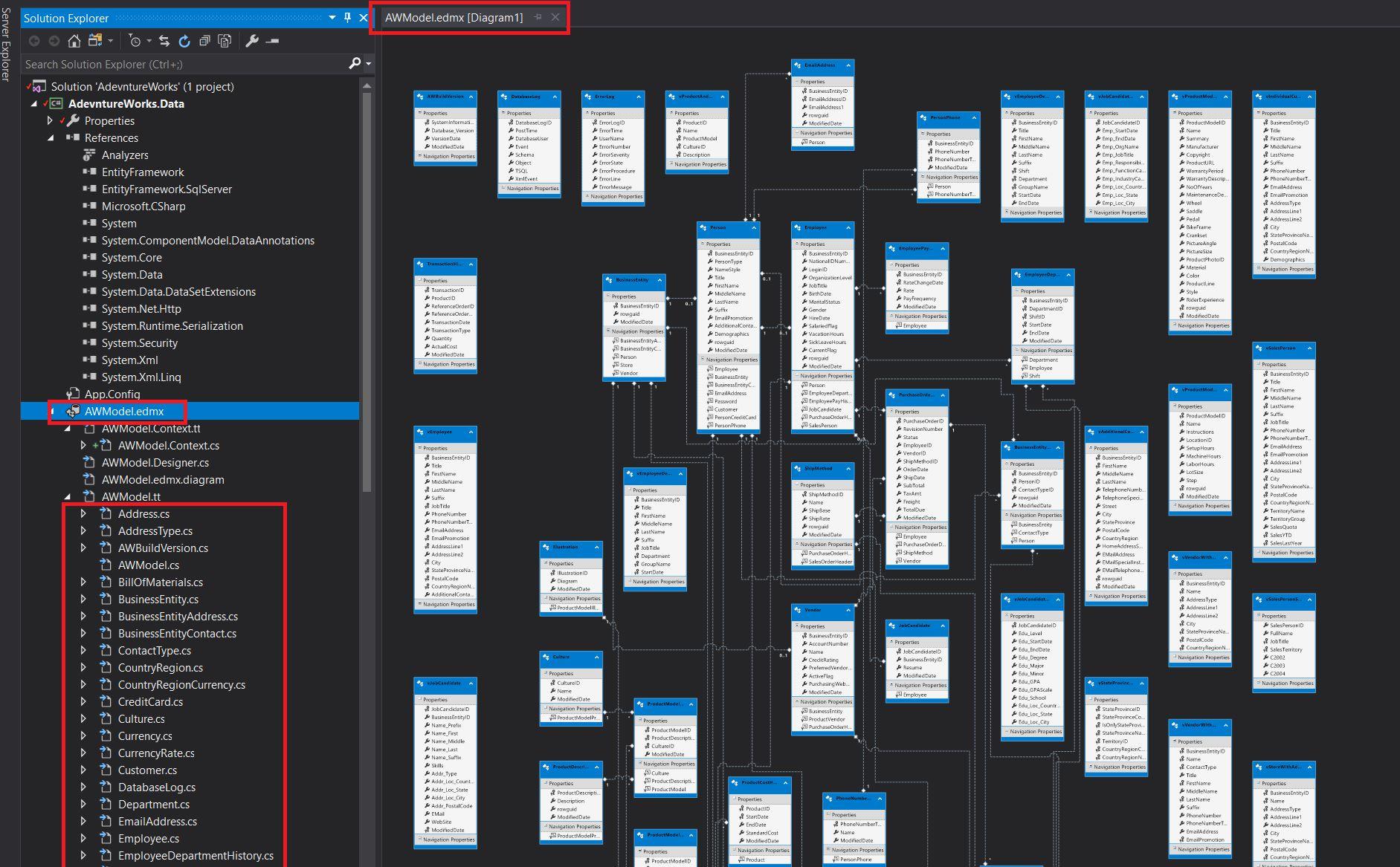 Entity Framework Database Fisrt Approach - Generating edmx Step 9